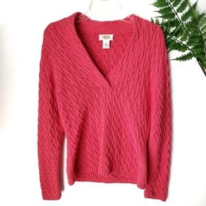 Talbots Coral Pink Cardigan Sweater Size Medium
